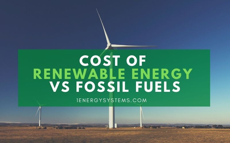 Cost of Renewable Energy vs Fossil Fuels